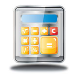 Kalkulator online sklepowa ikona Fotografia Royalty Free