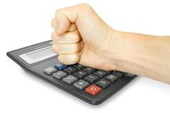 kalkulator pięści Zdjęcie Stock