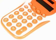 kalkulator pomarańcze Fotografia Stock