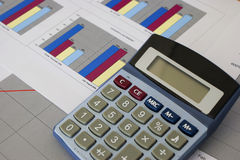 kalkulator prętowe mapy Zdjęcia Stock