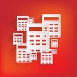 Kalkulator sieci ikona Zdjęcia Royalty Free