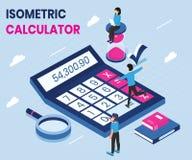 Kalkulator Używa w Isometric grafiki pojęcia projekcie ilustracji