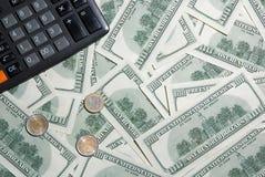 kalkulator ukuwać nazwę dolara euro sto Obrazy Royalty Free
