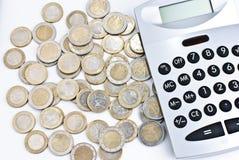 kalkulator ukuwać nazwę euro Zdjęcia Stock