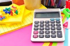 Kalkulator w edukaci obrazy stock