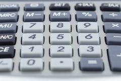 Kalkulator wpisuje kilka Makro- szczegół zdjęcia stock