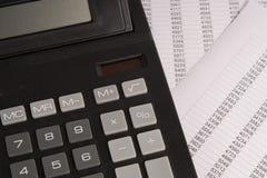 Kalkulator z statystykami Zdjęcie Stock