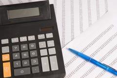 Kalkulator z statystykami Zdjęcie Royalty Free