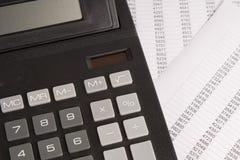 Kalkulator z statystykami Fotografia Royalty Free