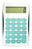 Kalkulator z turkusowymi kolorów guzikami ilustracja wektor