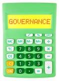 Kalkulator z zarządzaniem na pokazie odizolowywającym Obraz Stock