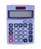 Kalkulatora biel tło Obraz Stock