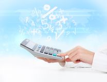 Kalkulatora biznes Zdjęcie Royalty Free