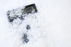 kalkulatora bożych narodzeń daty śnieg Zdjęcia Stock