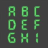 Kalkulatora cyfrowy zielony tekst Fotografia Stock