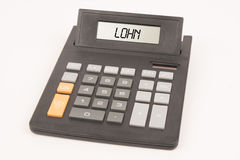 Kalkulatora dochodu niemiec Obraz Stock