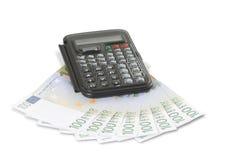 kalkulatora euro Fotografia Stock
