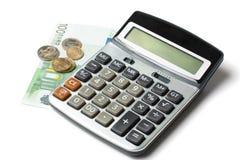 kalkulatora euro Obrazy Stock