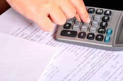 kalkulatora exercices matematyki obok Fotografia Royalty Free