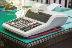 kalkulatora kalkulatorski desktop Fotografia Royalty Free