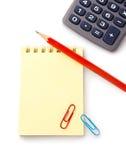 kalkulatora notatnika ołówek zdjęcie stock