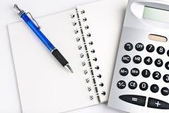kalkulatora notepad Zdjęcia Stock