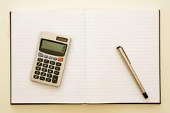 kalkulatora papieru pióro Obraz Royalty Free
