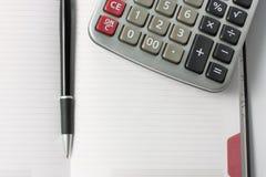 kalkulatora pióro Obraz Stock