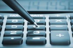 kalkulatora pióro Obraz Royalty Free
