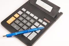 Kalkulatora pióro Zdjęcie Royalty Free