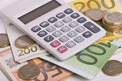 kalkulatora pieniądze Obrazy Stock