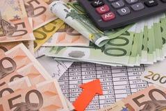 kalkulatora pieniądze Zdjęcia Stock