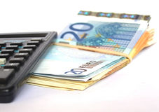kalkulatora pieniądze Zdjęcie Royalty Free
