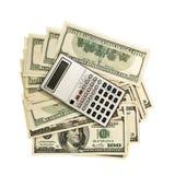 kalkulatora pieniądze obraz royalty free