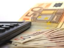 kalkulatora pieniądze Obraz Stock