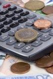 kalkulatora pieniądze Zdjęcia Royalty Free