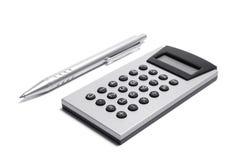 kalkulatora pióro Fotografia Stock
