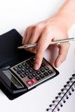 kalkulatora pisać na maszynie Obraz Stock