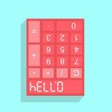 Kalkulatora pokaz z 07734 CZEŚĆ - Zdjęcia Royalty Free