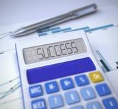 kalkulatora rezultata sukces Zdjęcie Royalty Free