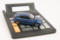 Kalkulatora samochód Zdjęcia Stock