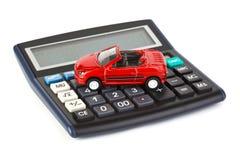 kalkulatora samochodu zabawka obrazy royalty free