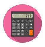 Kalkulatora wizerunek w mieszkanie stylu Fotografia Stock