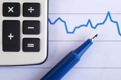 kalkulatora wykres Zdjęcia Stock