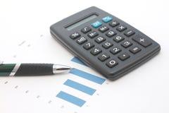 kalkulatora wykresu pióro Obrazy Stock