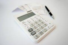 Kalkulatorscy kwity fotografia royalty free