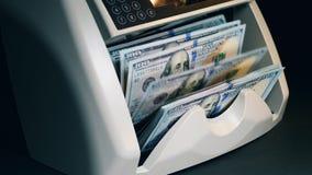Kalkulatorska maszyna przetwarza setki dolary zbiory wideo