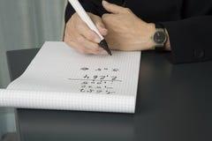 kalkulatorska starsza kobieta jednostek gospodarczych Fotografia Stock