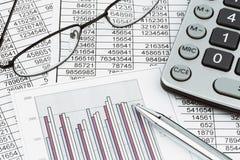 Kalkulatorzy i statistk obraz royalty free