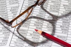 Kalkulatorzy i statistk fotografia royalty free